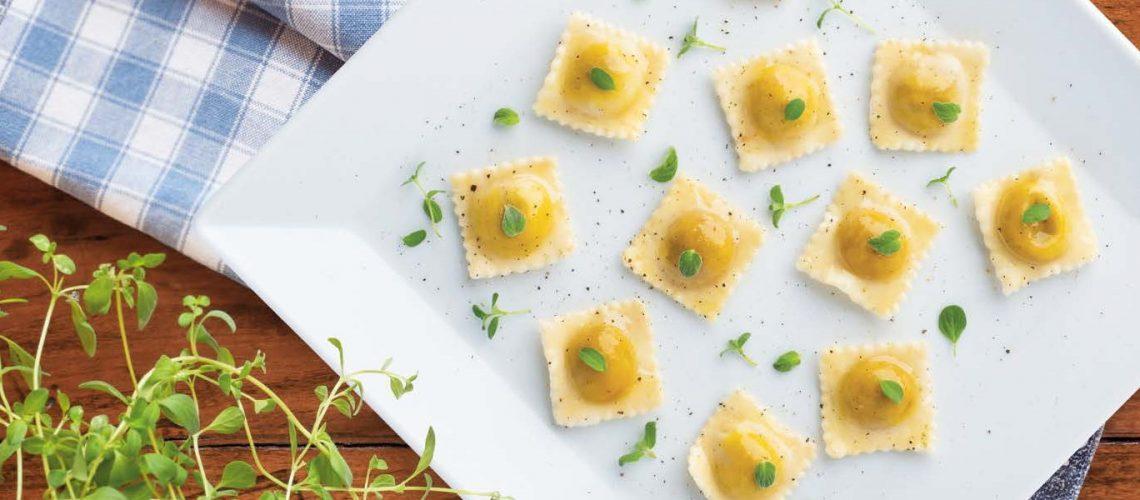 Agnolottini burro e menta - Ricette Pastificio Destefano