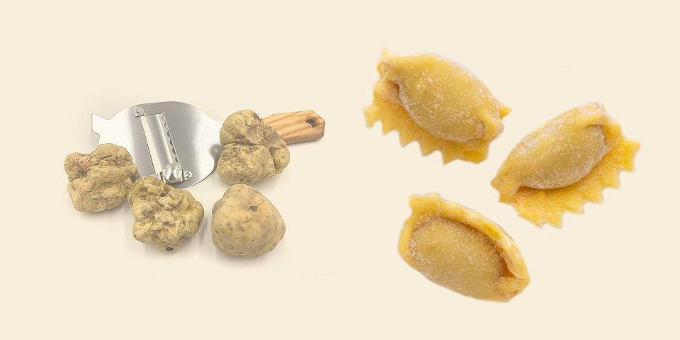 Agnolotti del Plin alla carne e tartufo - Pastificio Destefano Bollengo - Ivrea