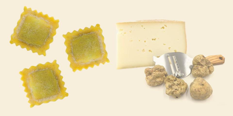 Ravioli alla fonduta e tartufo - Pastificio Destefano Bollengo - Ivrea